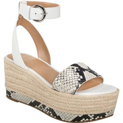 Marc Fisher Ltd Gigli Platform Sandal, Grey