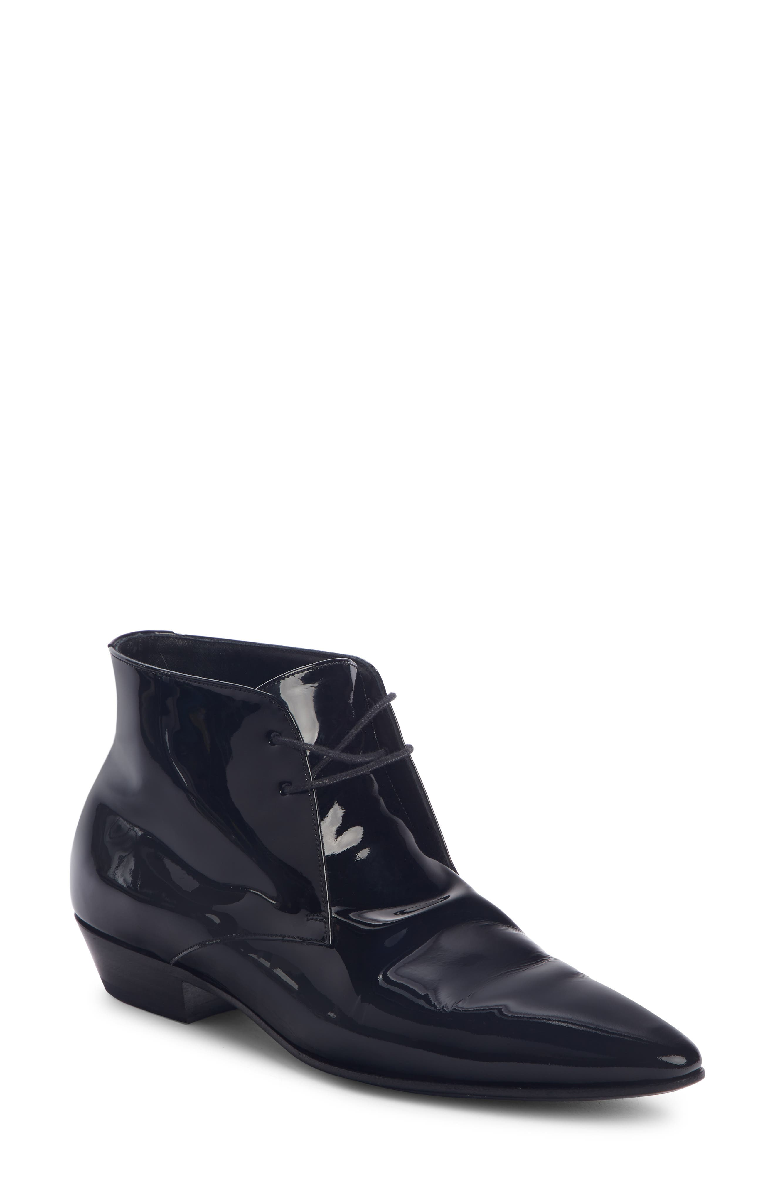 Saint Laurent Jonas Pointy Toe Bootie - Black
