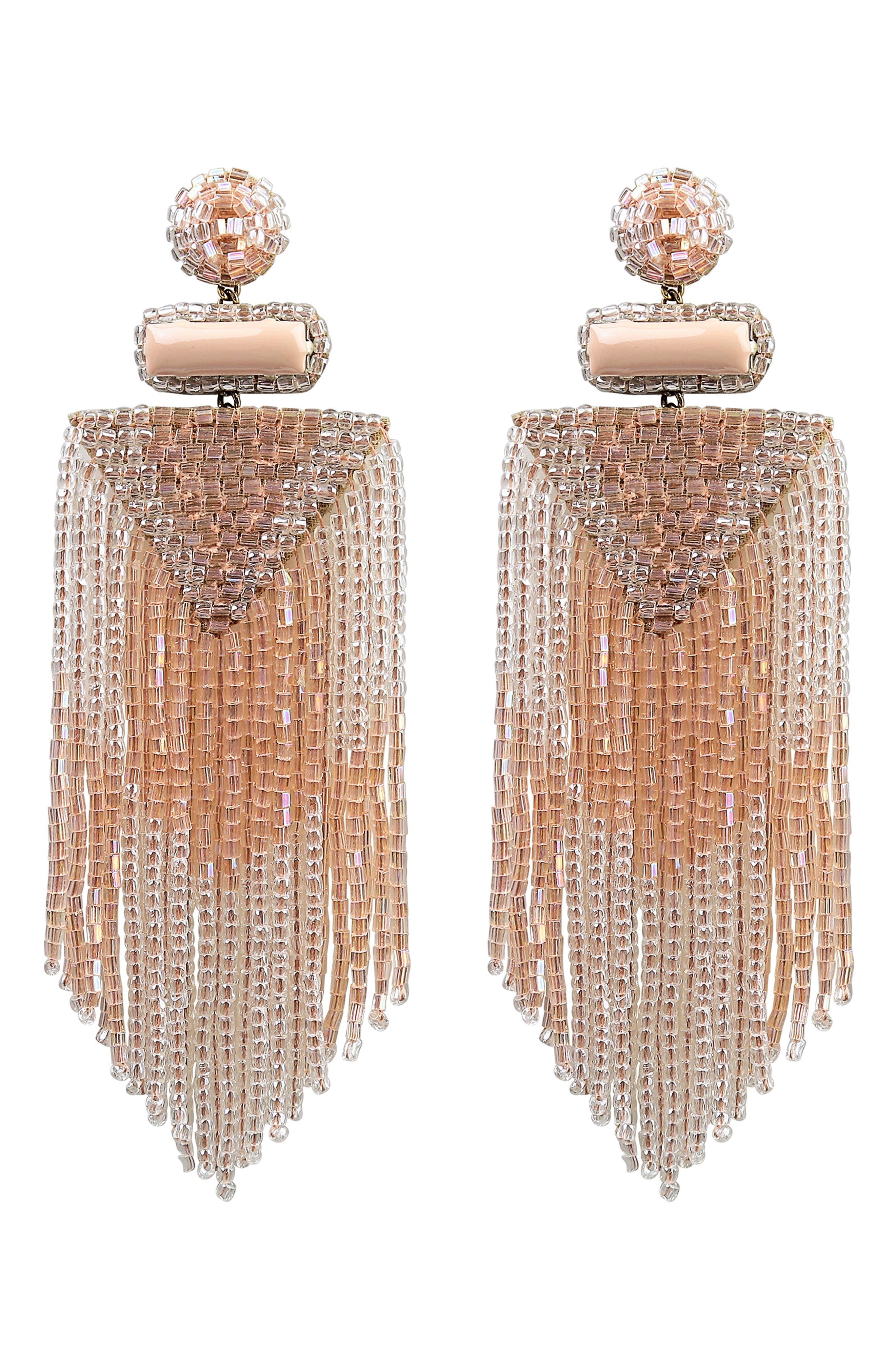 Jody Beaded Tassel Earrings