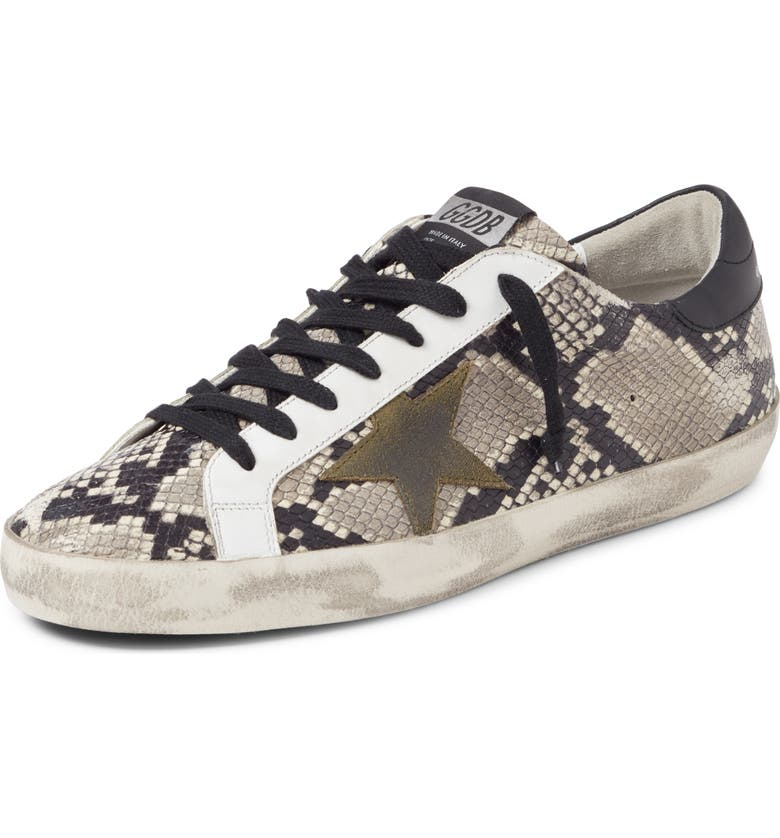 GOLDEN GOOSE Superstar Sneaker, Main, color, NATURAL SNAKE PRINT/ GREEN