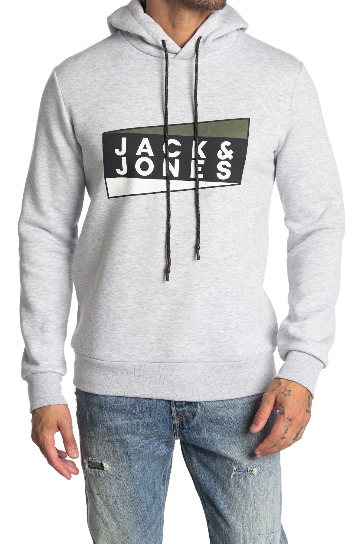 Image of JACK & JONES Logo Pullover Hoodie
