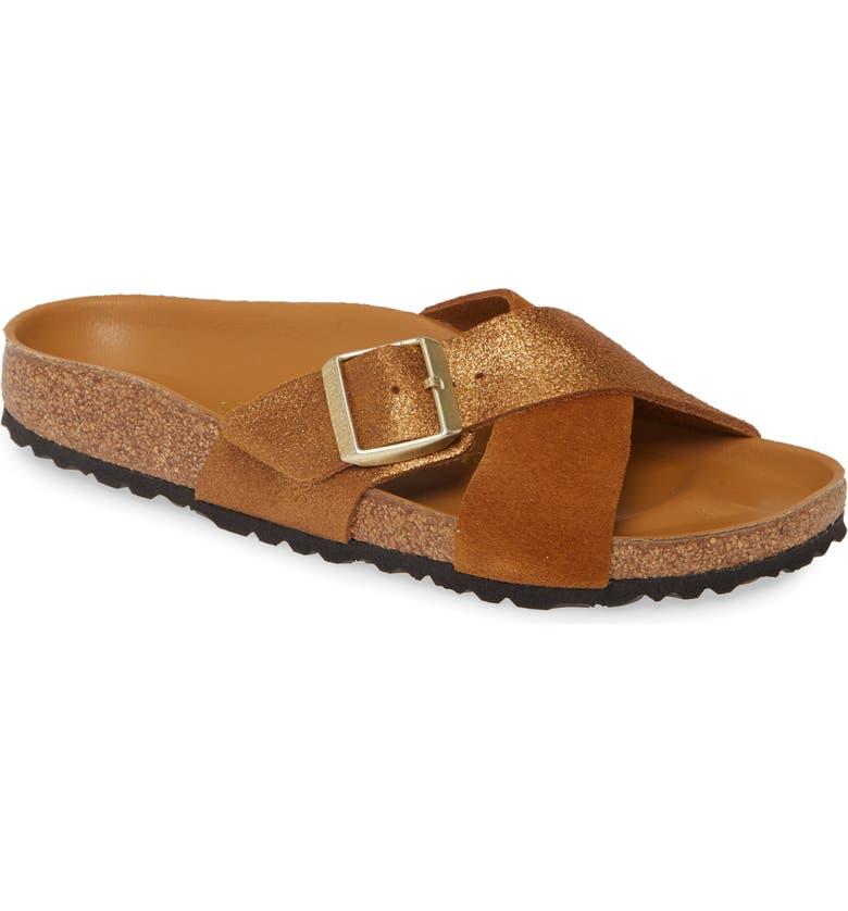 BIRKENSTOCK Siena Hex Slide Sandal, Main, color, MINK SUEDE