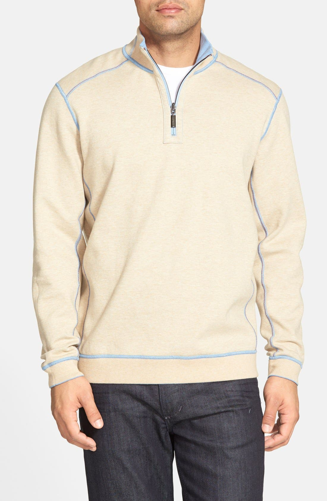 ,                             'Flip Side' Reversible Quarter Zip Pullover,                             Alternate thumbnail 75, color,                             406