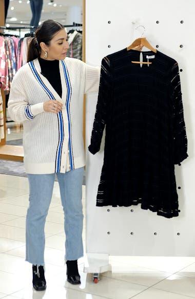 Viola Long Sleeve Swing Dress, sales video thumbnail