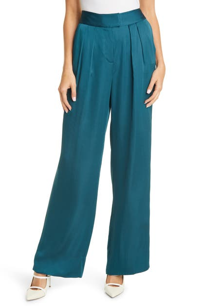 Rebecca Taylor WIDE LEG SATIN TROUSERS