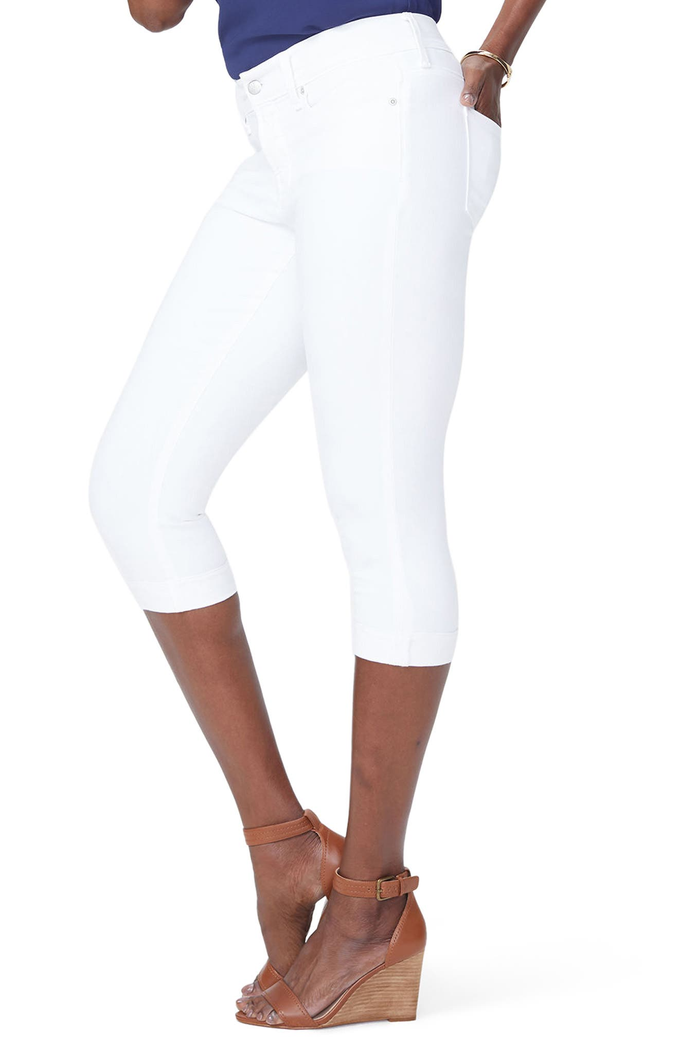 ,                             Marilyn Crop Jeans,                             Alternate thumbnail 4, color,                             OPTIC WHITE