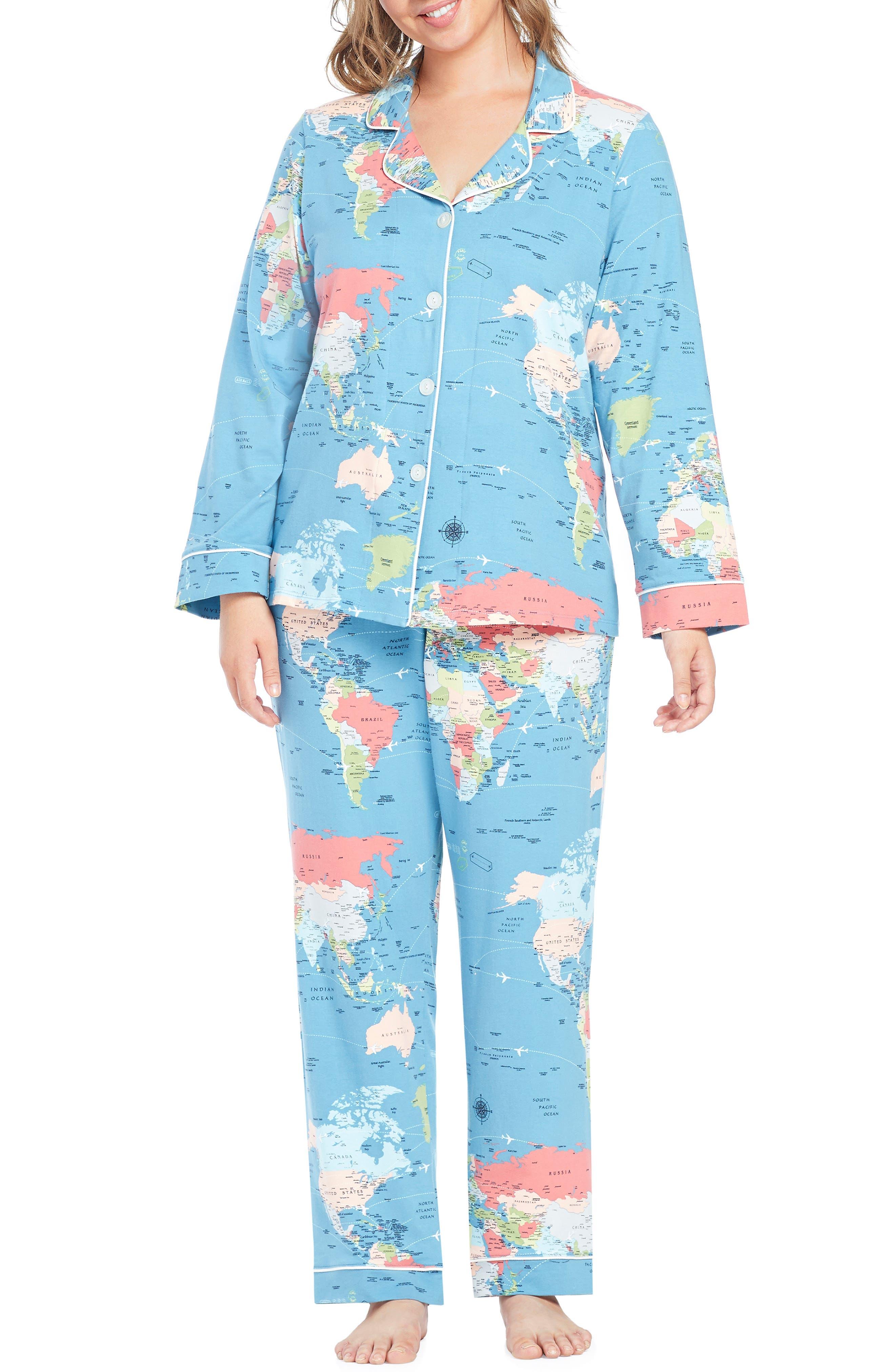 Plus Size Bedhead Classic Print Pajamas, Blue