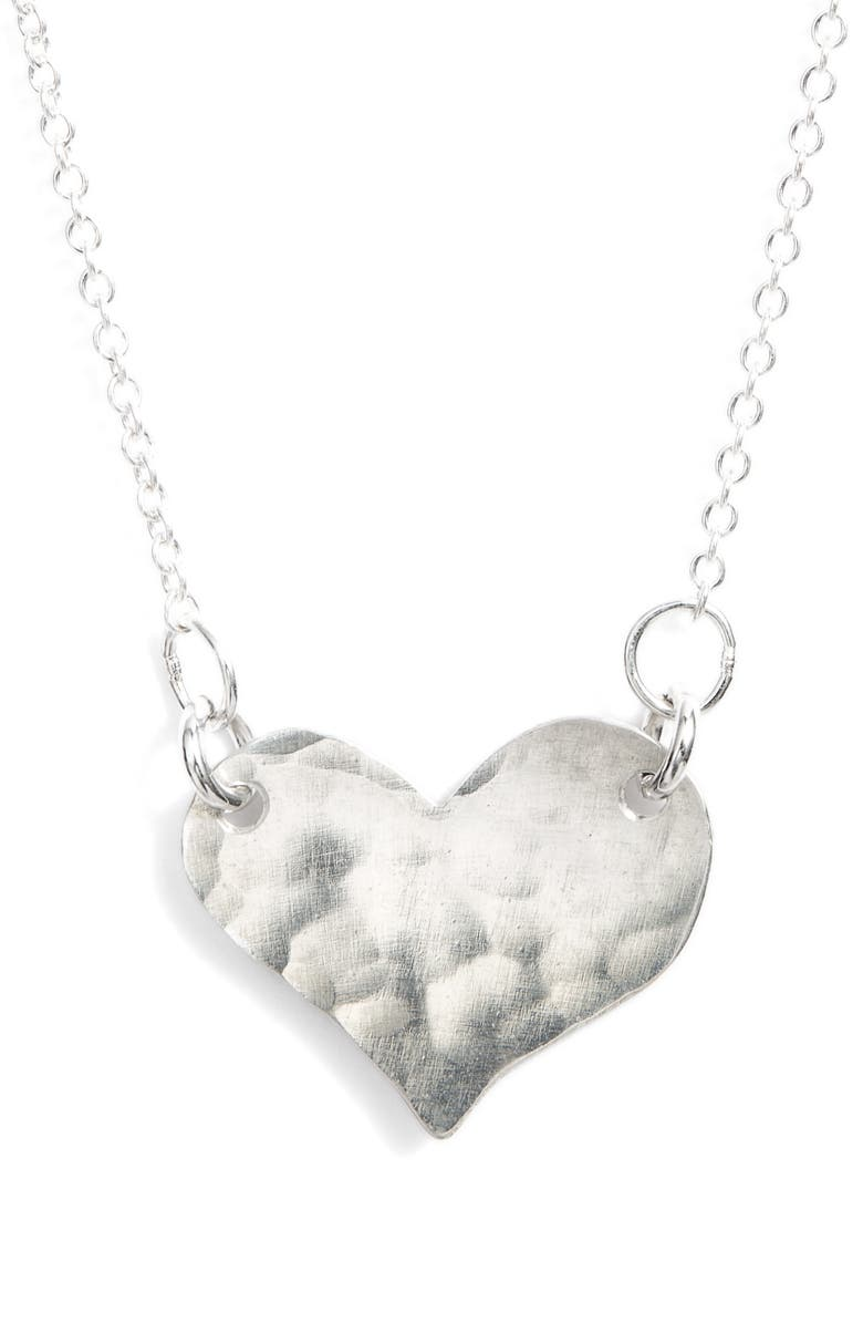 NASHELLE Sweetheart Pendant Necklace, Main, color, SILVER