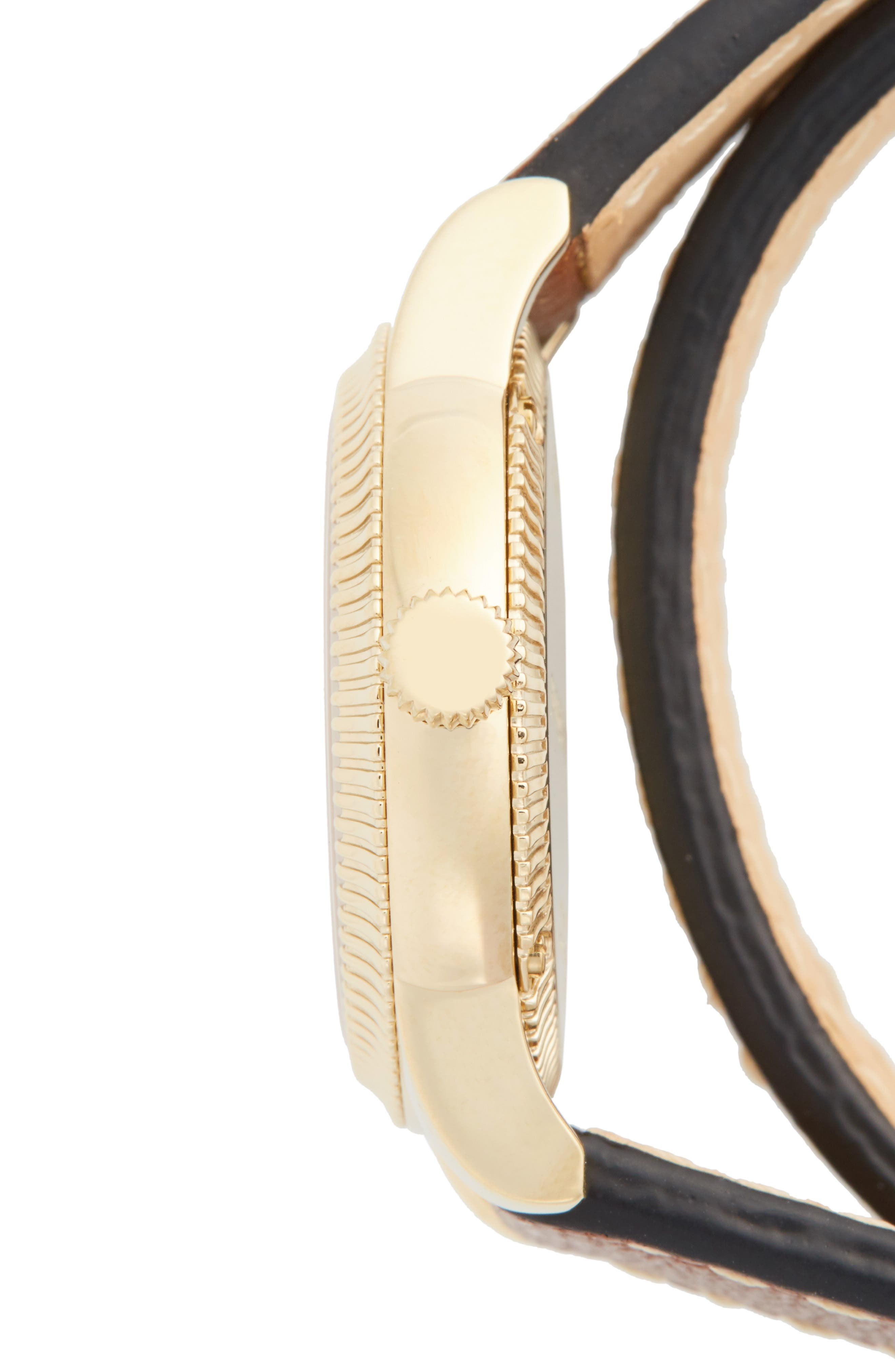 ,                             'Utilitarian' Round Leather Wrap Watch, 30mm,                             Alternate thumbnail 13, color,                             200