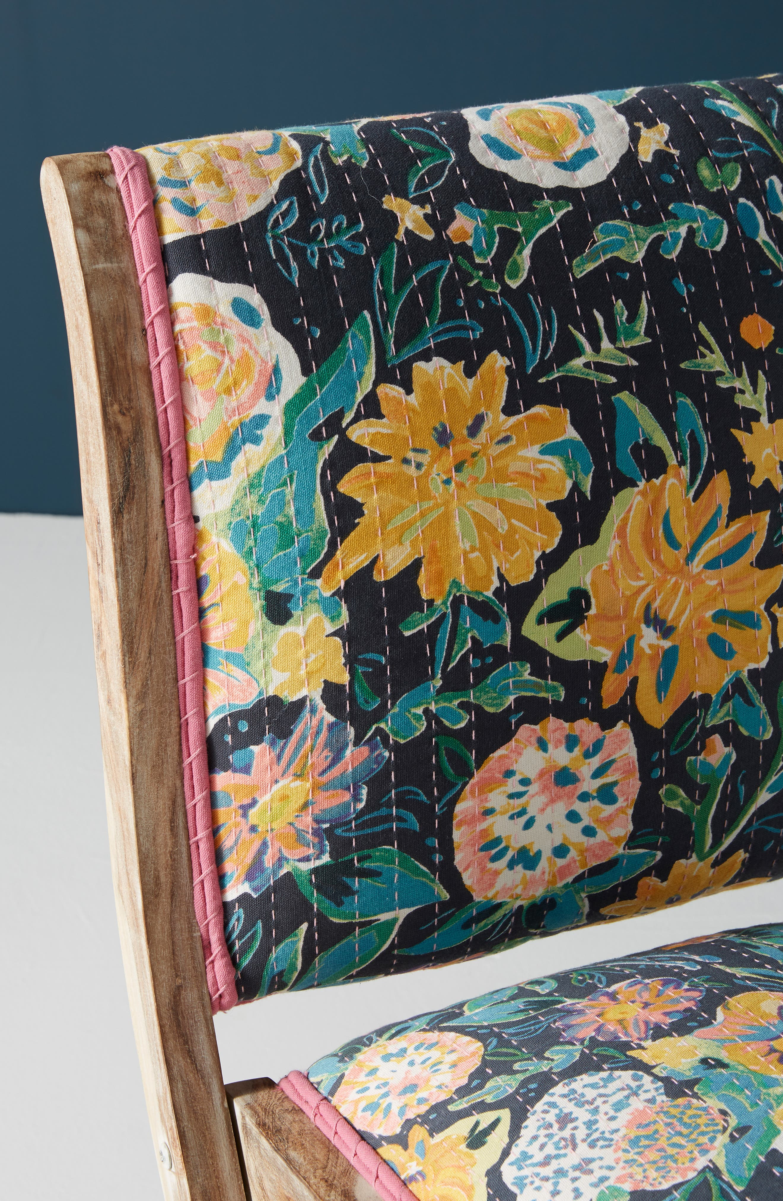 ,                             Emma Terai Folding Chair,                             Alternate thumbnail 5, color,                             BLACK MULTI