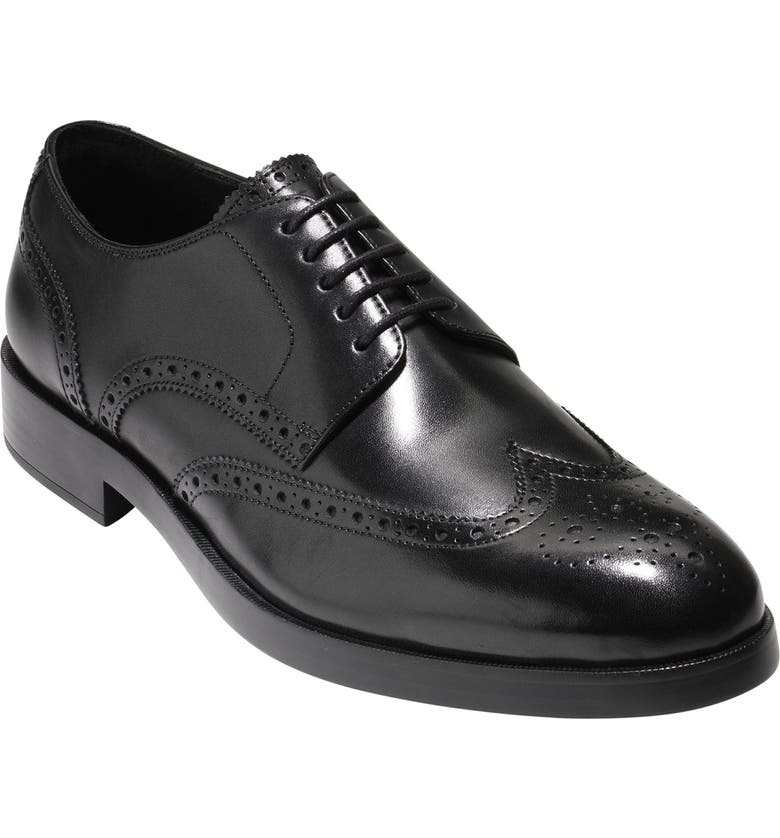 COLE HAAN 'Harrison Grand' Wingtip, Main, color, BLACK