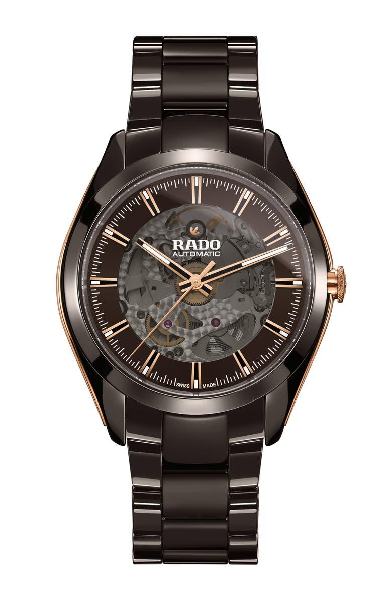 RADO HyperChrome Exhibition Automatic Ceramic Bracelet Watch, 42mm, Main, color, 200