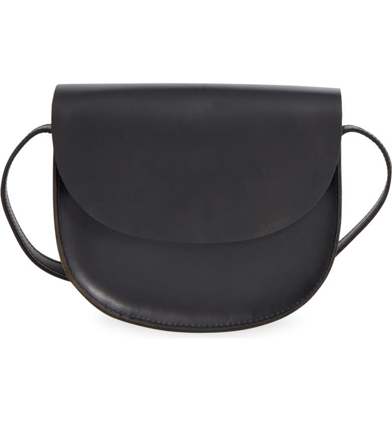STREET LEVEL Leather Crossbody Bag, Main, color, 001