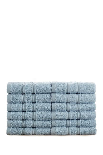 Image of Modern Threads Manor Ridge Turkish Cotton 700 GSM Wash Cloth - Set of 12 - Blue