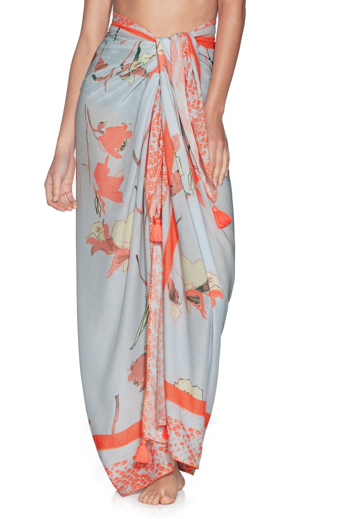 Image of Maaji Butterfly Bush Sarong Maxi Skirt