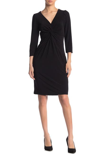 Image of Laundry By Shelli Segal Front Twist Jersey Knit Dress