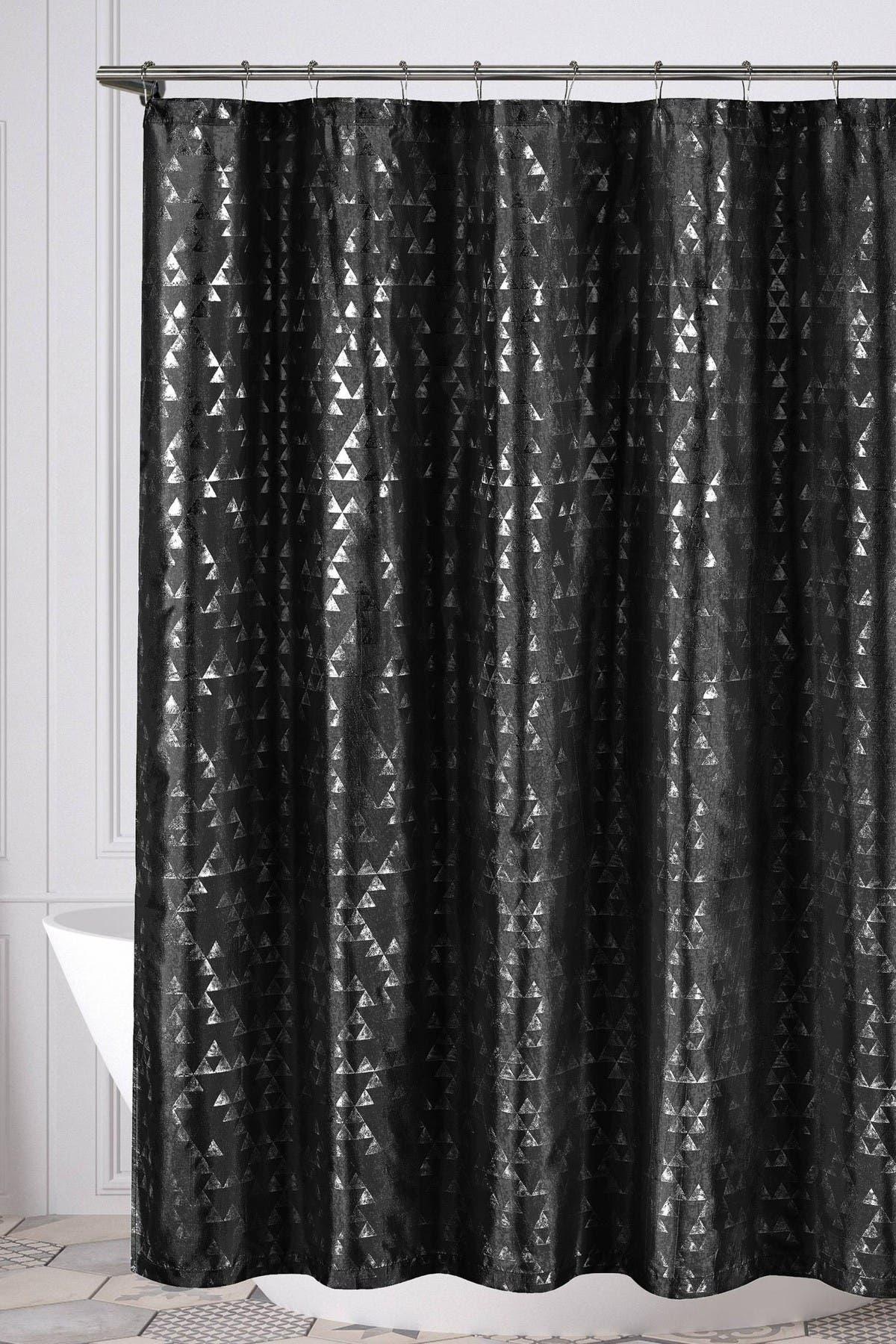 Image of Duck River Textile Juno Geometric Shower Curtain - Black