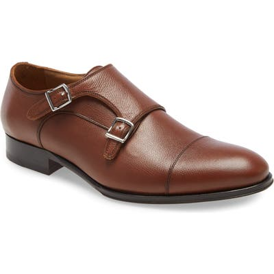 To Boot New York Positano Double Monk Strap Shoe, Brown