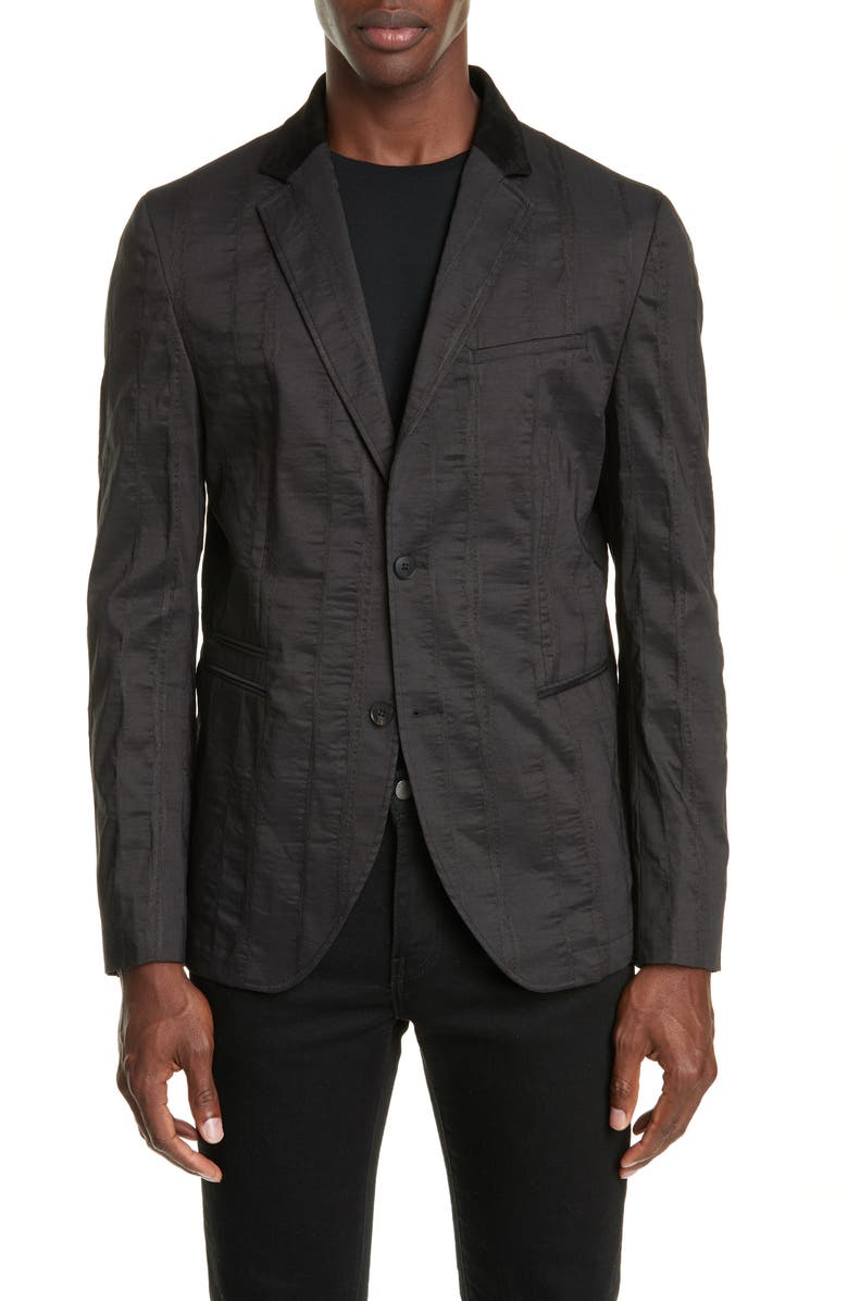 JOHN VARVATOS Two-Button Sport Coat, Main, color, BLACK