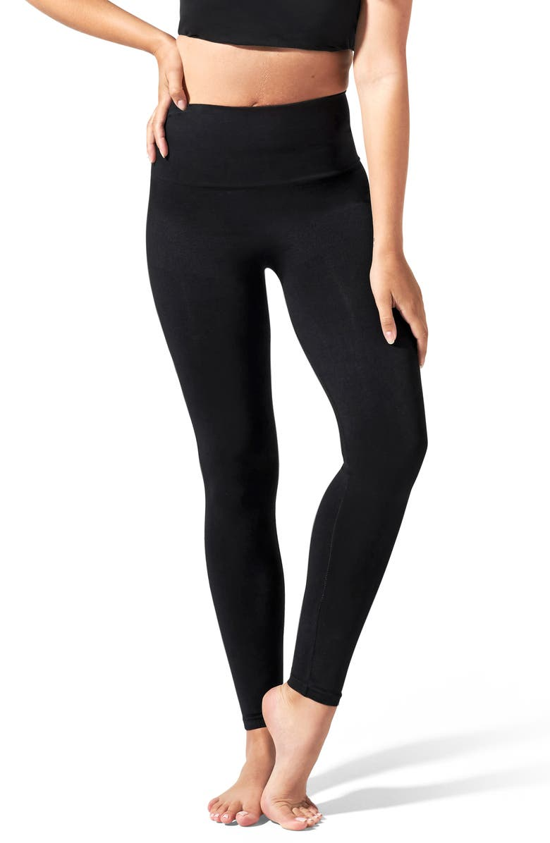 BLANQI Everyday Hipster Postpartum Support Leggings, Main, color, DEEPEST BLACK