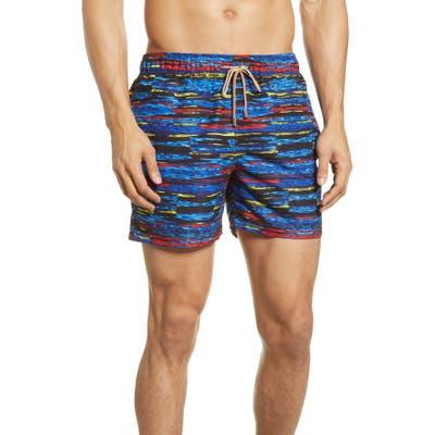 Bugatchi Ripples Swim Trunks, Blue