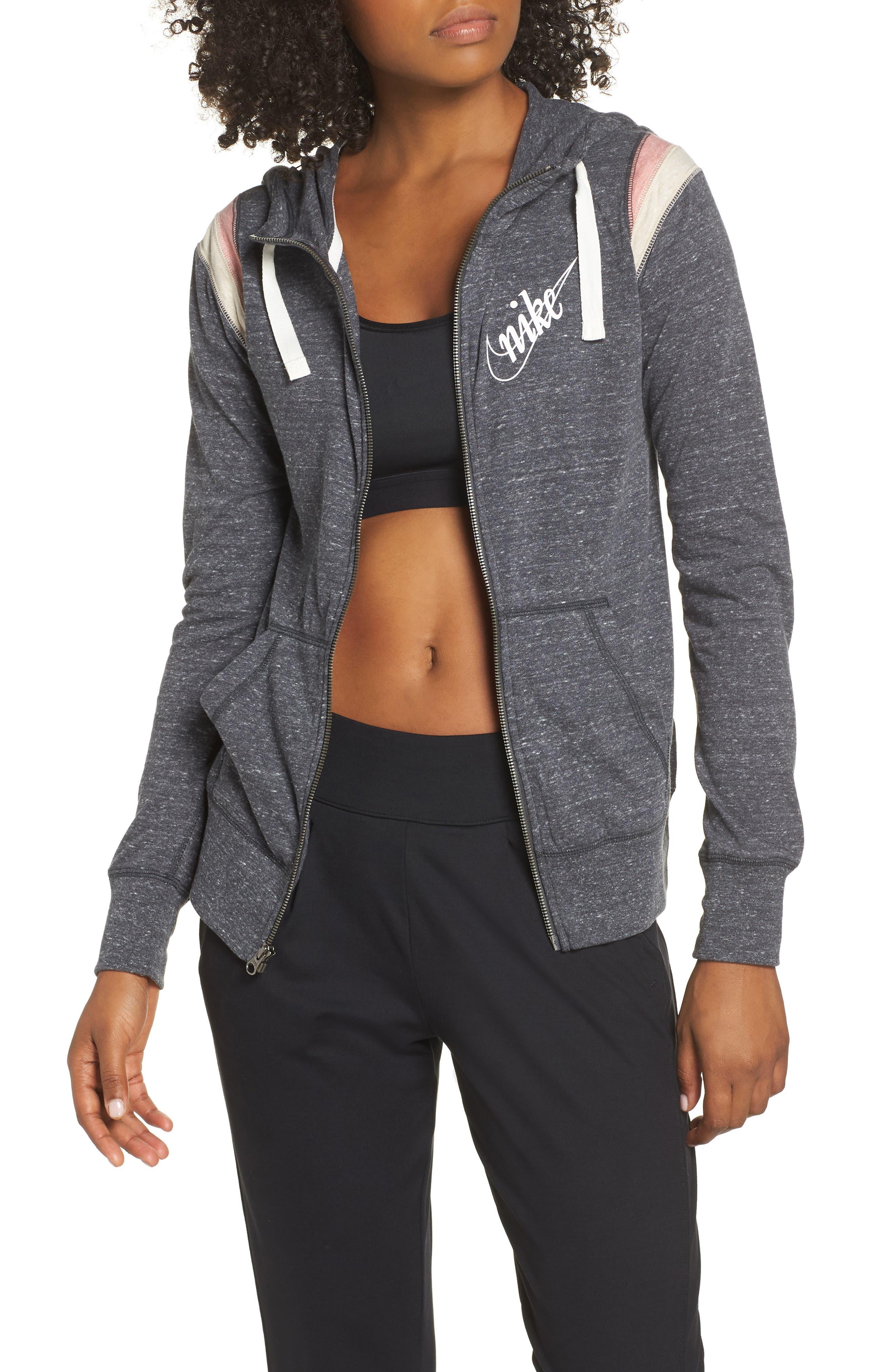 Sportswear Gym Vintage Zip Hoodie, Main, color, 060