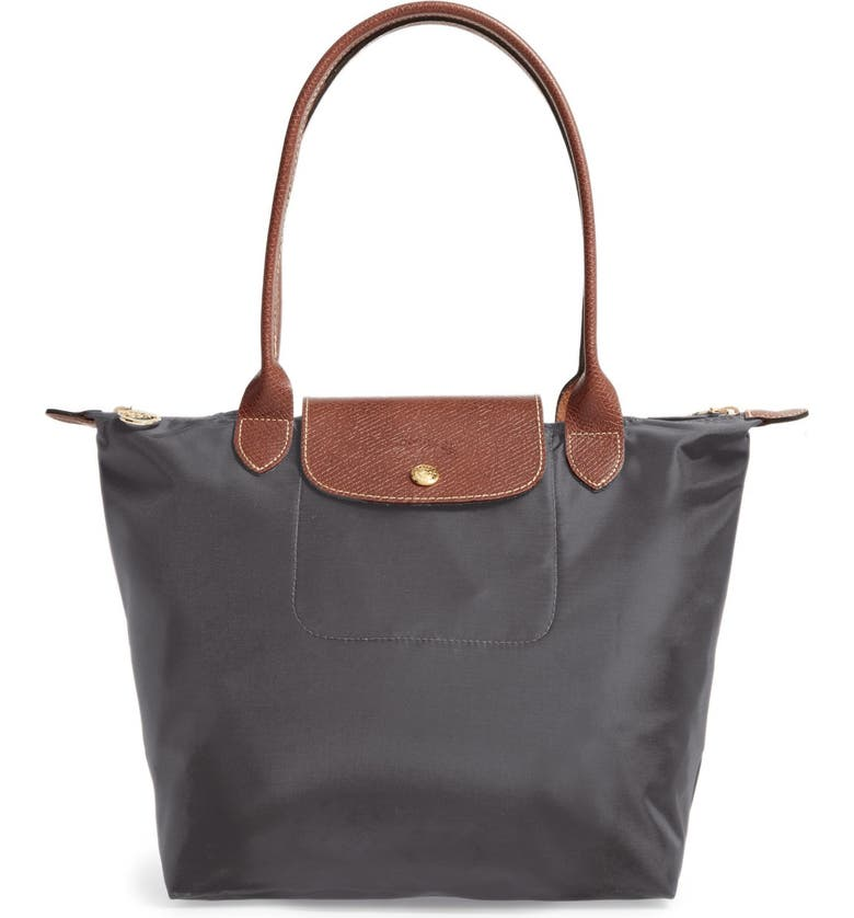 LONGCHAMP 'Small Le Pliage' Tote, Main, color, GUNMETAL