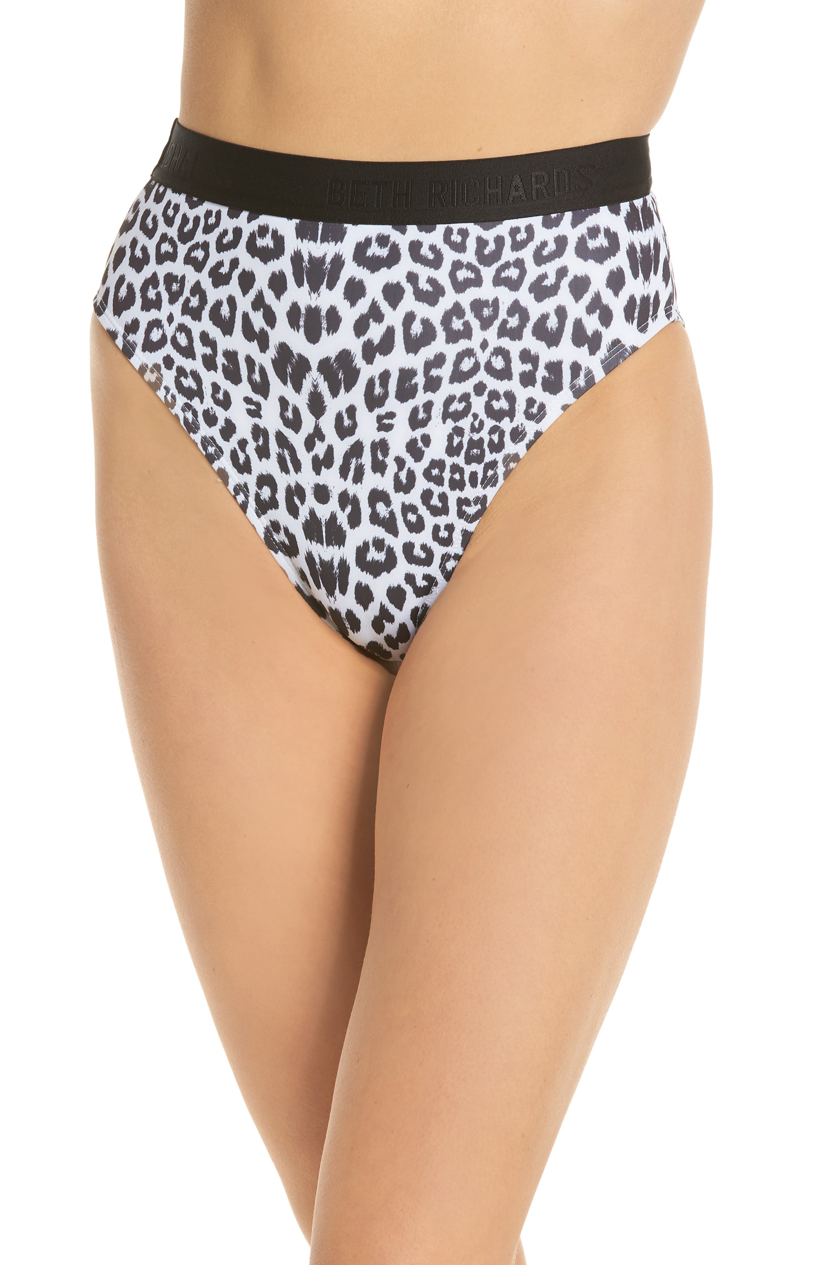 Beth Richards Kim High Waist Bikini Bottoms, Grey
