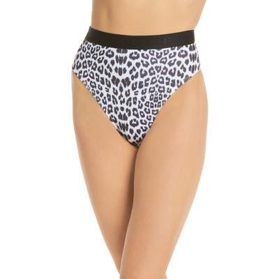 Beth Richards Kim High Waist Bikini Bottoms, Grey