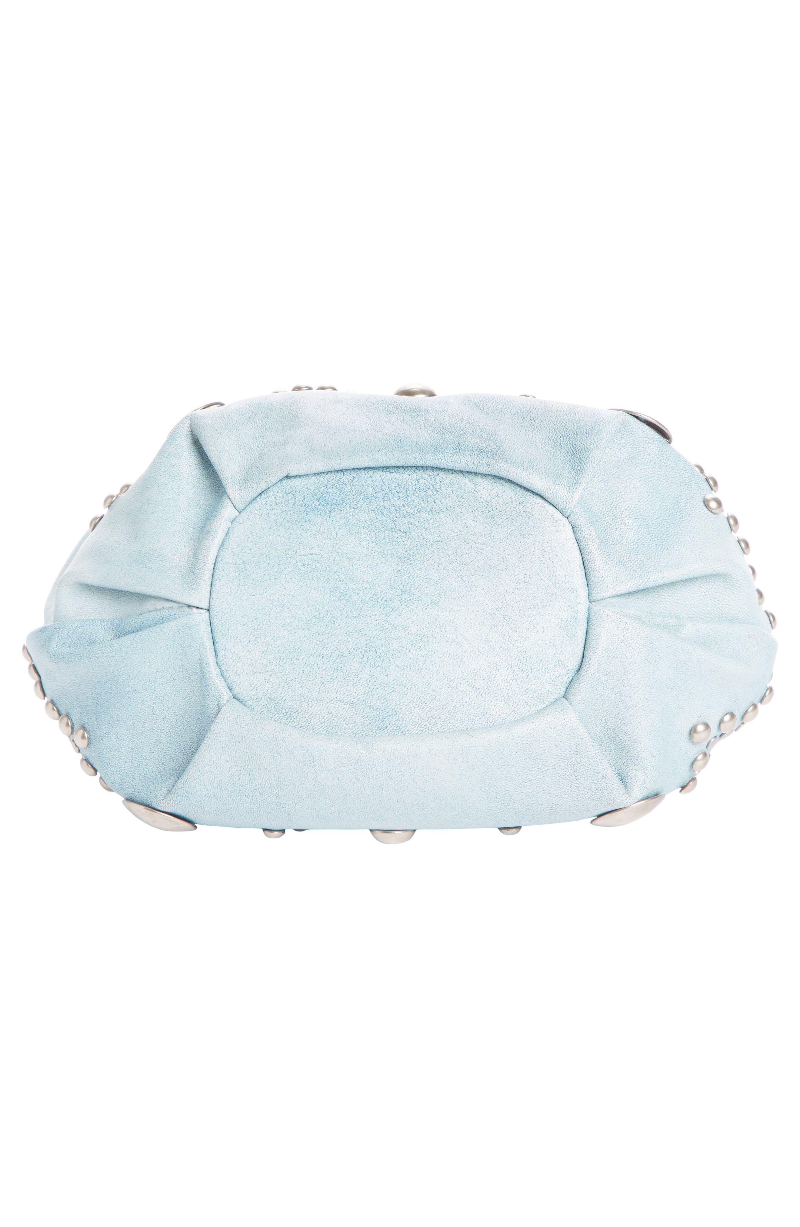 ,                             Kylio Studded Lambskin Suede Bucket Bag,                             Alternate thumbnail 5, color,                             BLUE