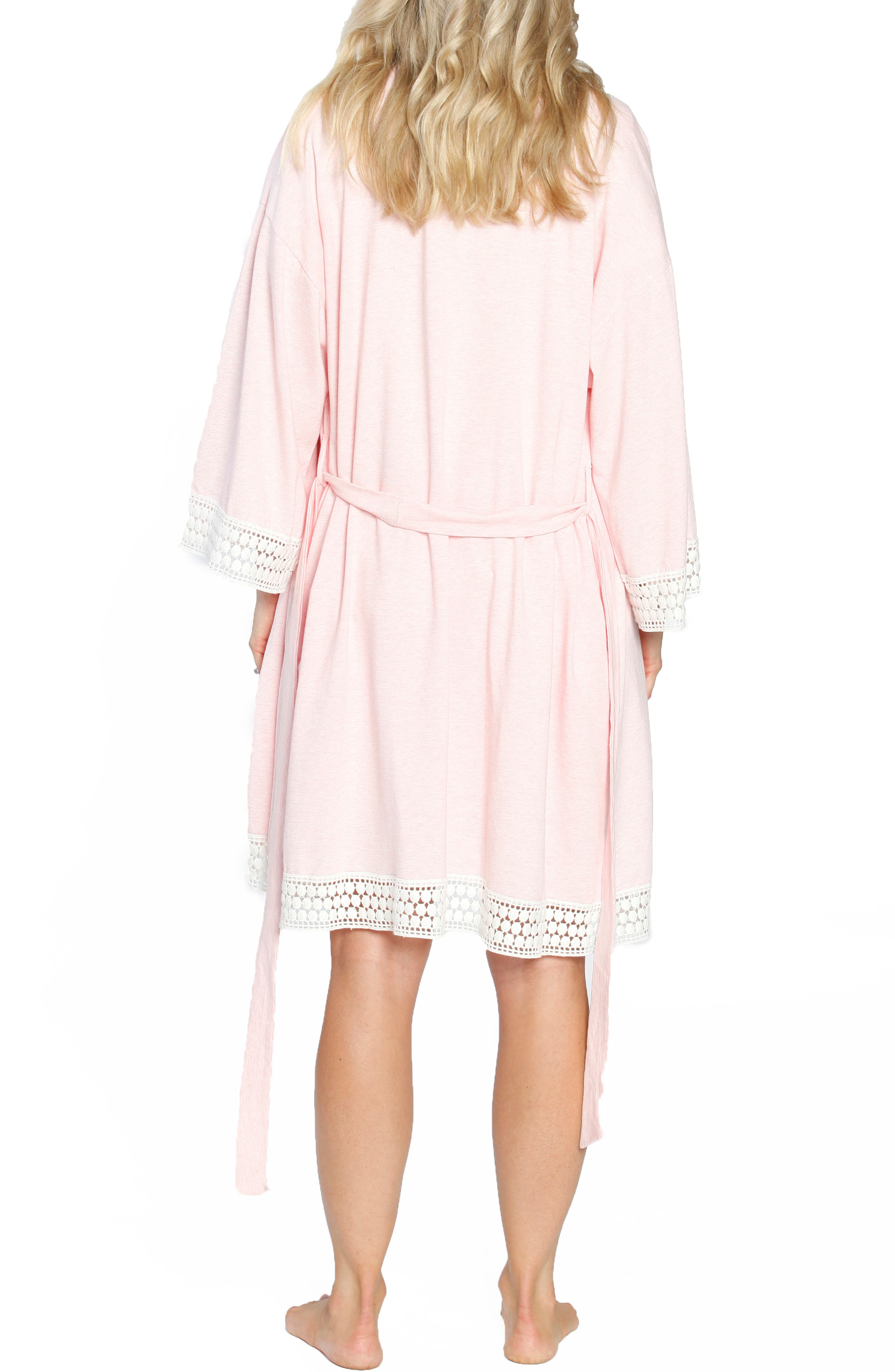 ,                             Ruby Joy Maternity/Nursing Sleep Shirt, Robe & Baby Blanket Pouch Set,                             Alternate thumbnail 2, color,                             PINK