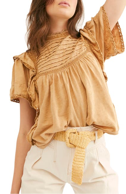 Image of Free People Le Femme Ruffled Babydoll Top