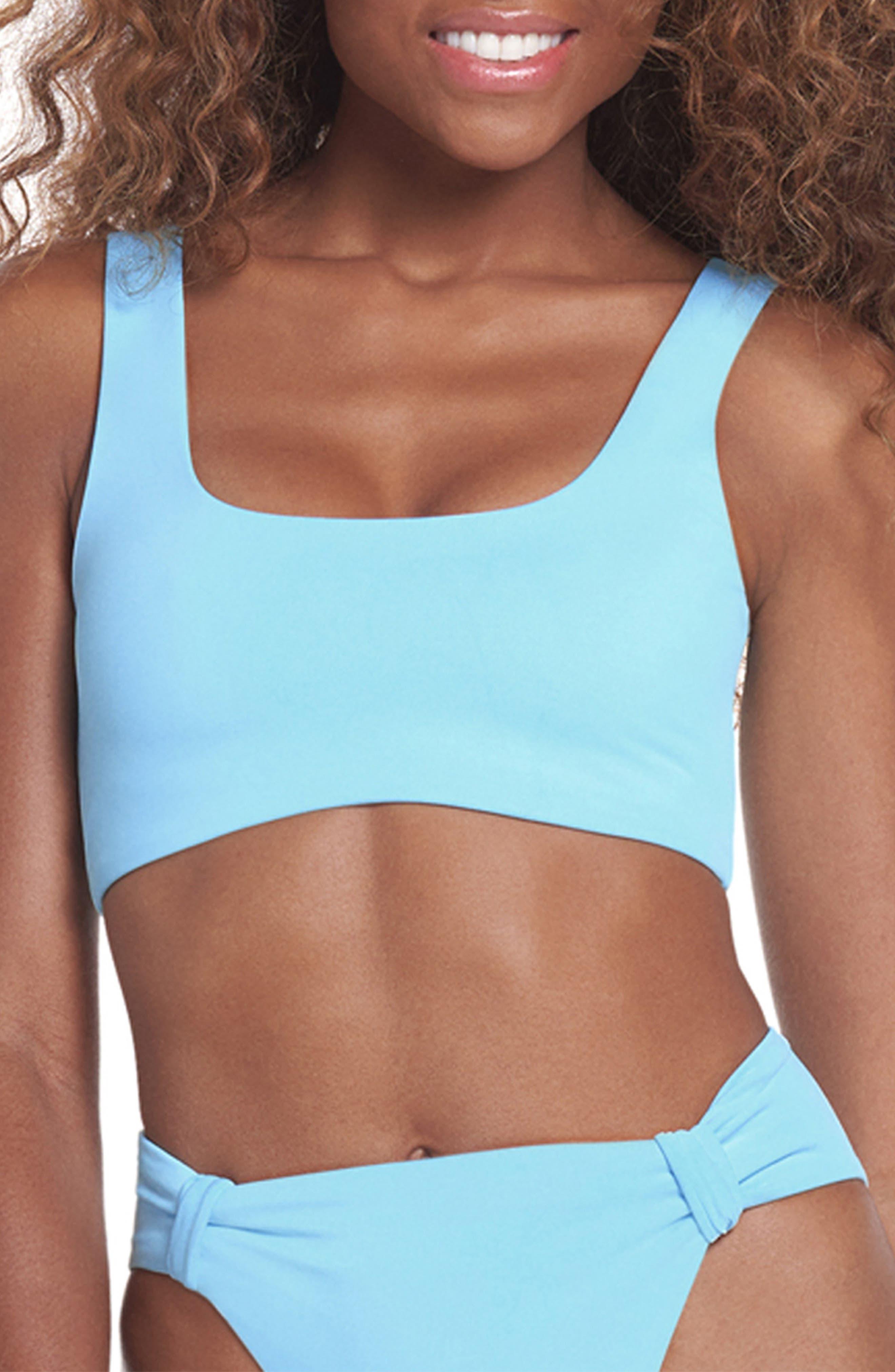 Sky Blue Izzy Reversible Bikini Top