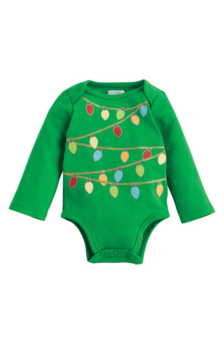 MUD PIE Christmas Tree Bodysuit & Headband Set, Main, color, 300