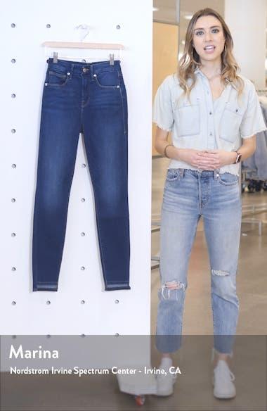 Good Waist High Waist Step Hem Skinny Jeans, sales video thumbnail