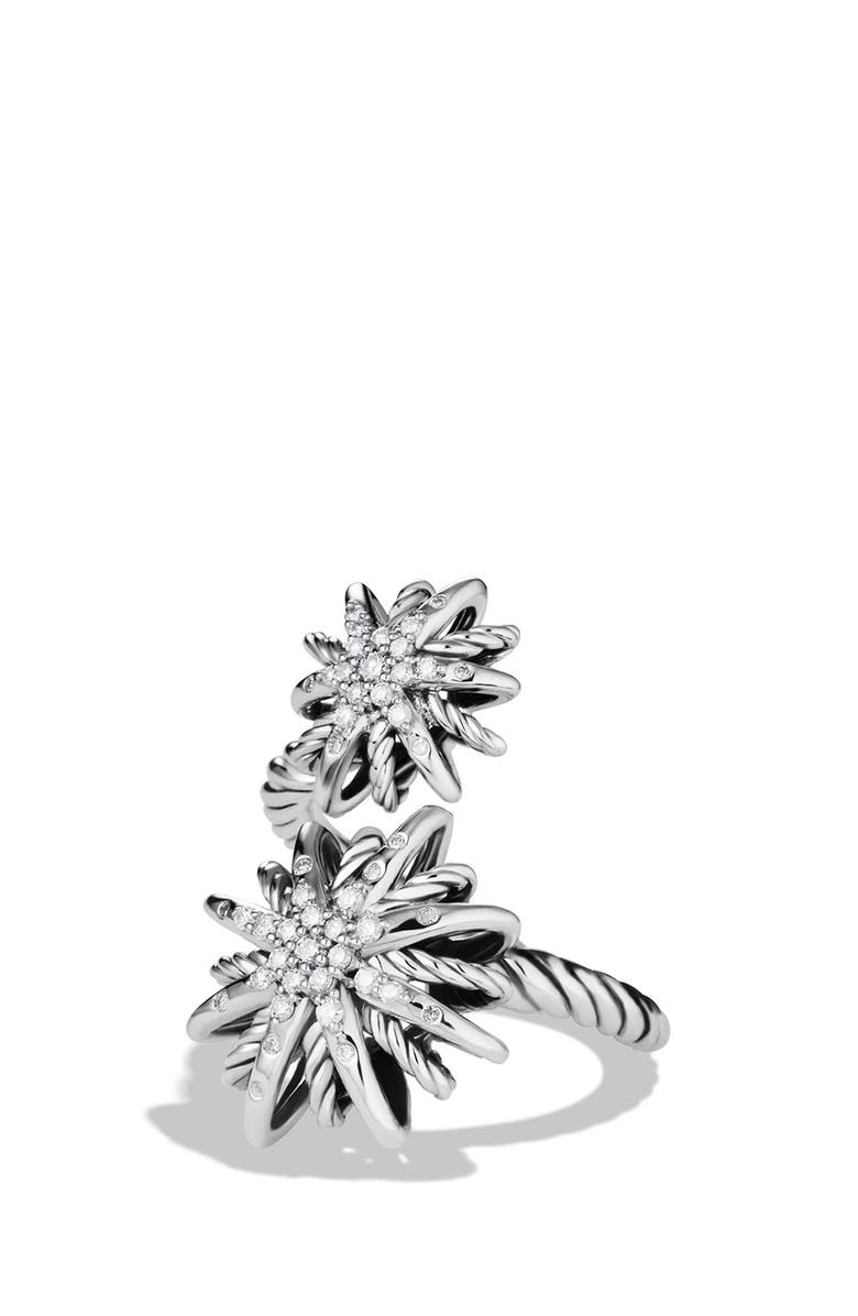 DAVID YURMAN Starburst Open Ring with Diamonds, Main, color, 040