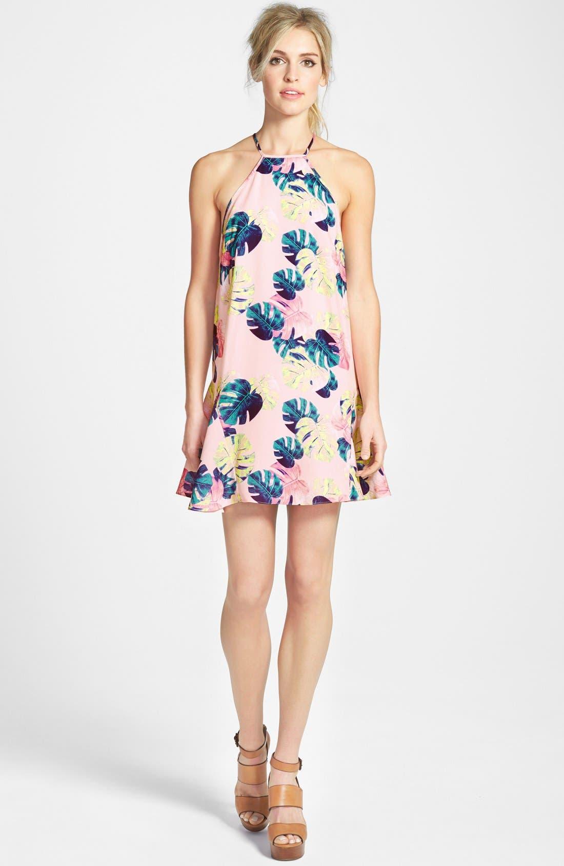 Palm Leaf Dress, Main, color, 200
