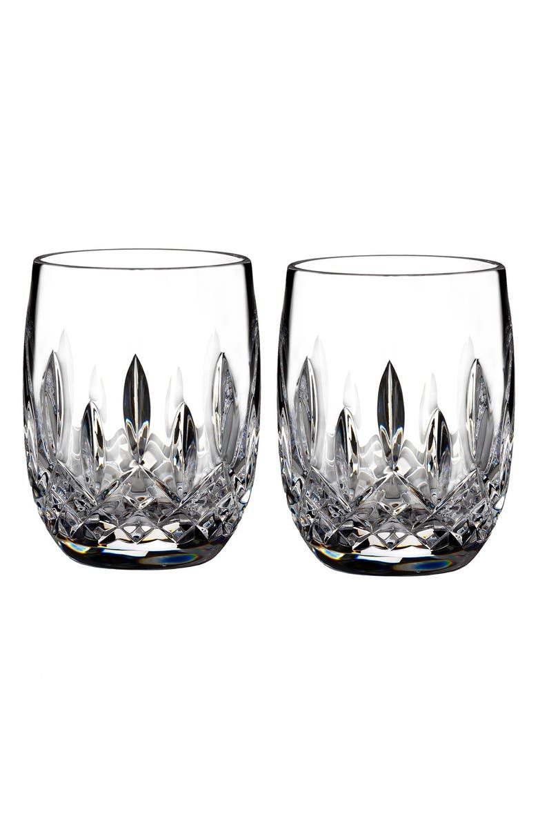 Waterford Lismore Lead Crystal Rounded Tumblers Set Of 2