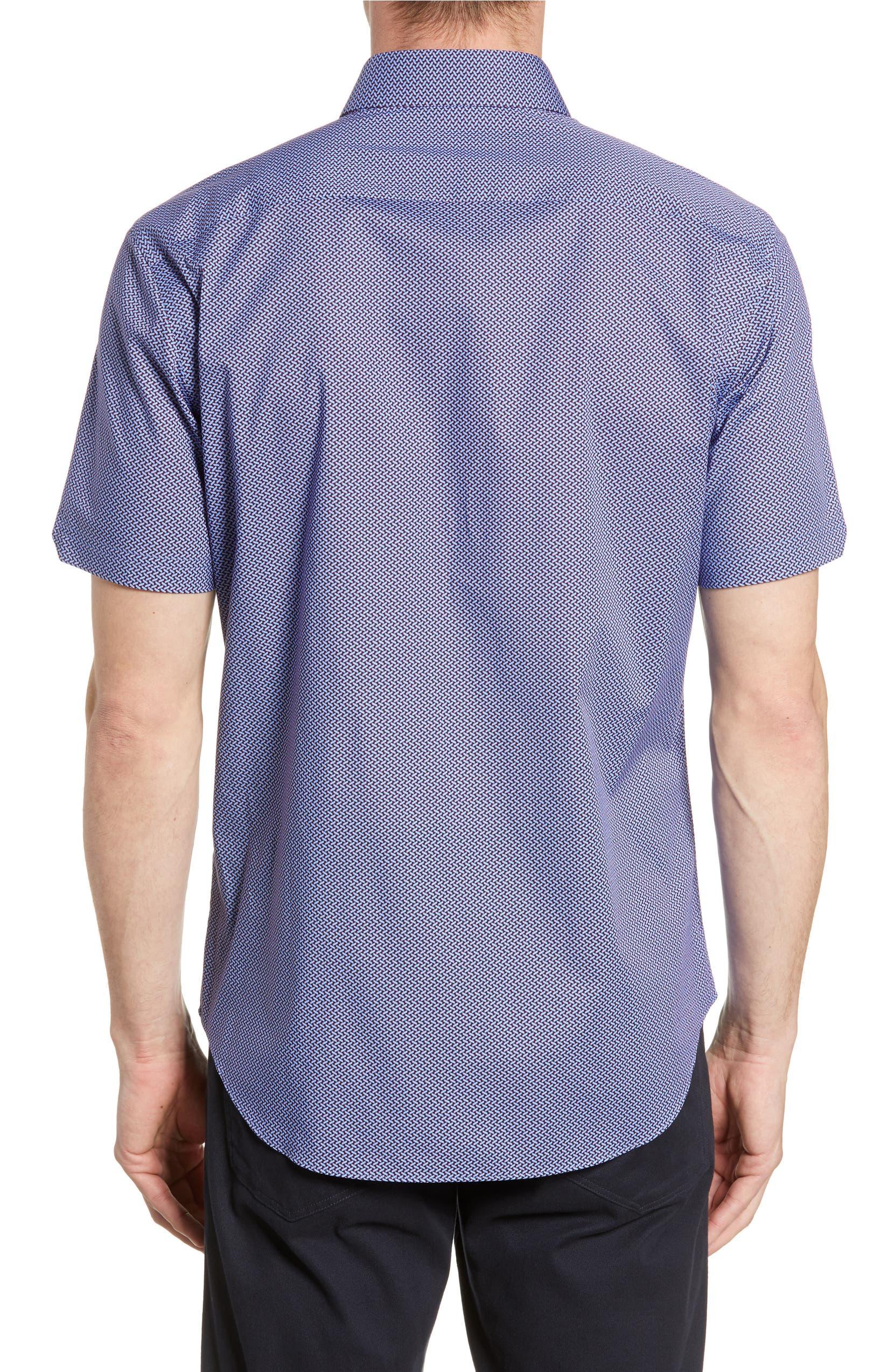 227da6ac330 Zachary Prell Jackson Regular Fit Short Sleeve Button-Up Sport Shirt ...