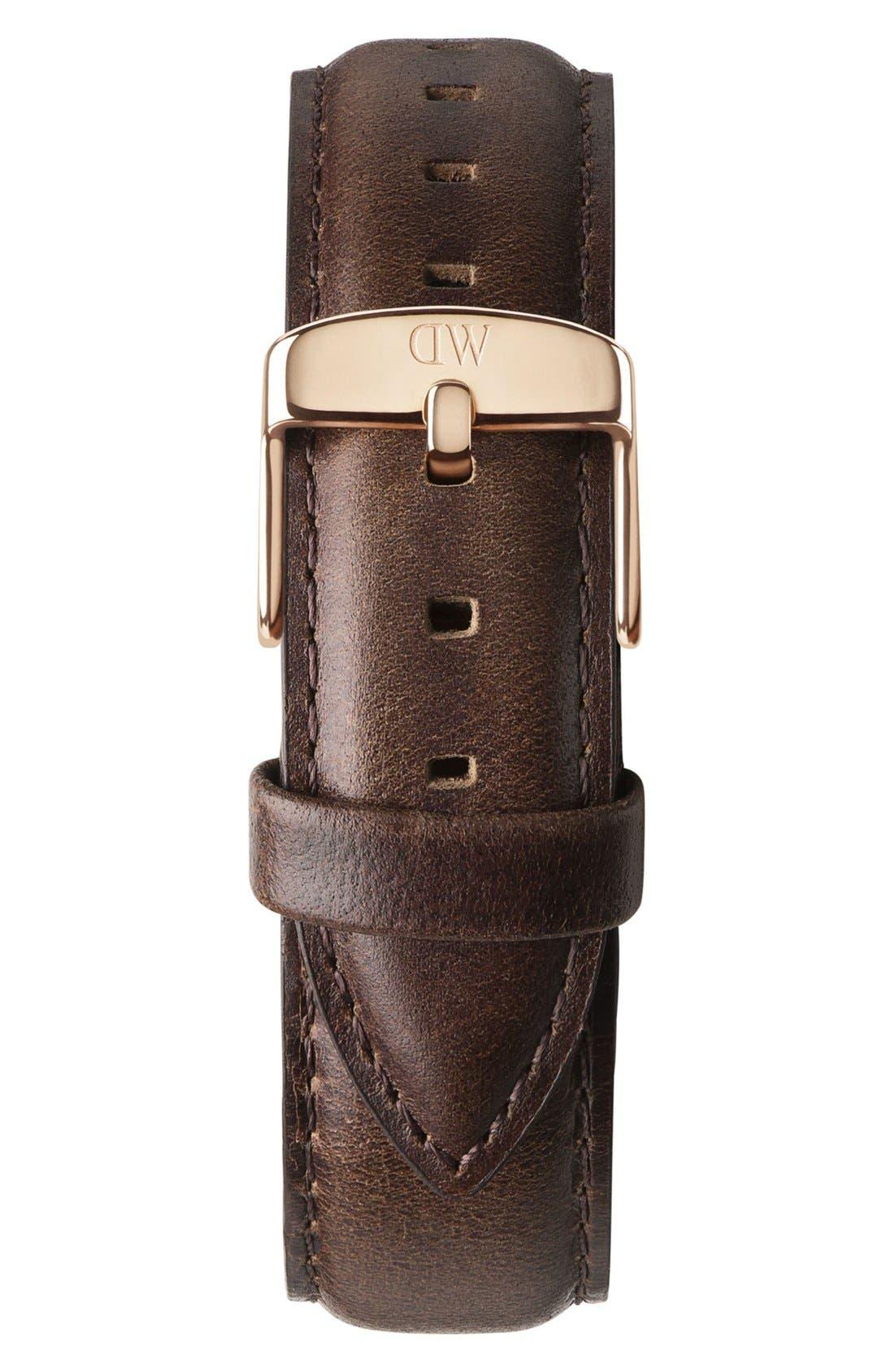 'Classic Bristol' 20mm Leather Watch Strap