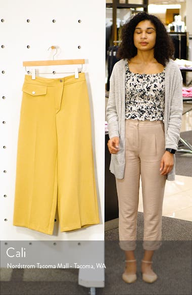 Bonded Wide Leg Cropped Trousers, sales video thumbnail