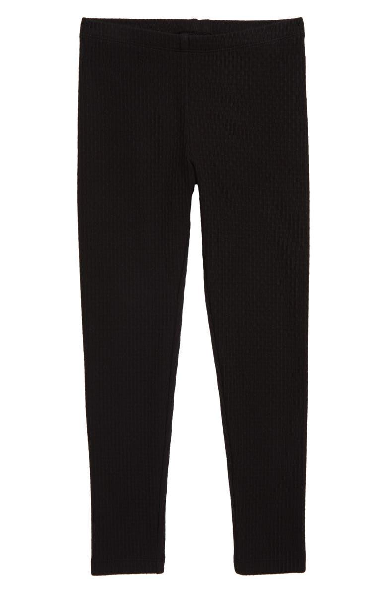 TEA COLLECTION Pointelle Leggings, Main, color, JET BLACK