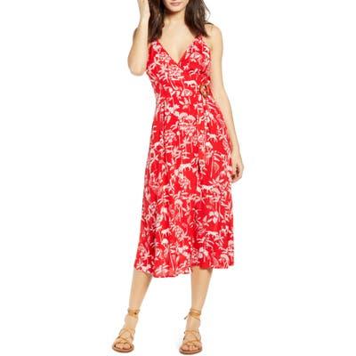 Minkpink Sahara Breeze Midi Dress, Red