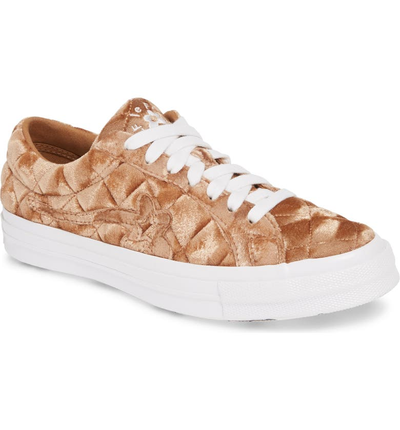 CONVERSE x GOLF le FLEUR* One Star Low Top Sneaker, Main, color, BROWN SUGAR VELVET