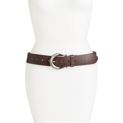 Allsaints Western Leather Belt, Bitter Brown
