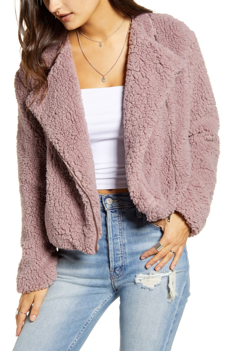 JACK by BB Dakota Faux Shearling Jacket, Main, color, 650
