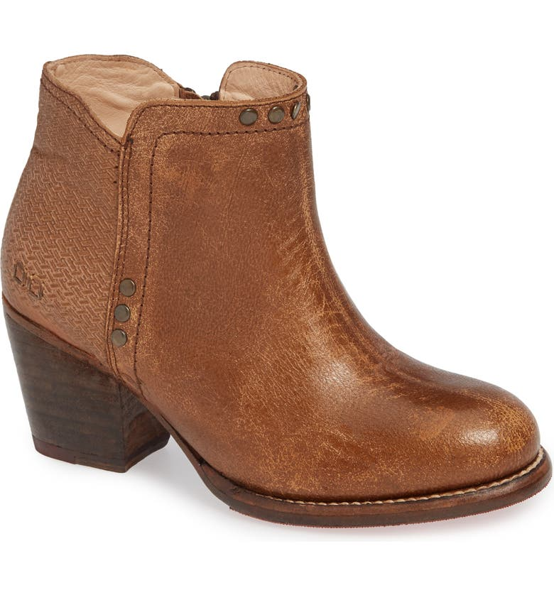 BED STU Yell Bootie, Main, color, TAN LUX
