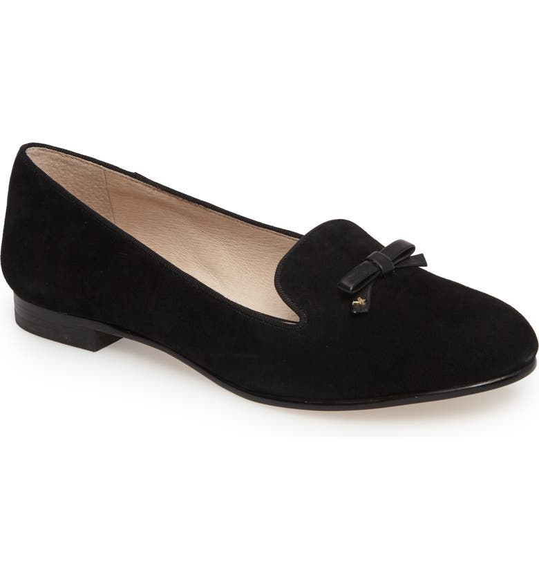 LOUISE ET CIE Anniston Flat, Main, color, BLACK SUEDE