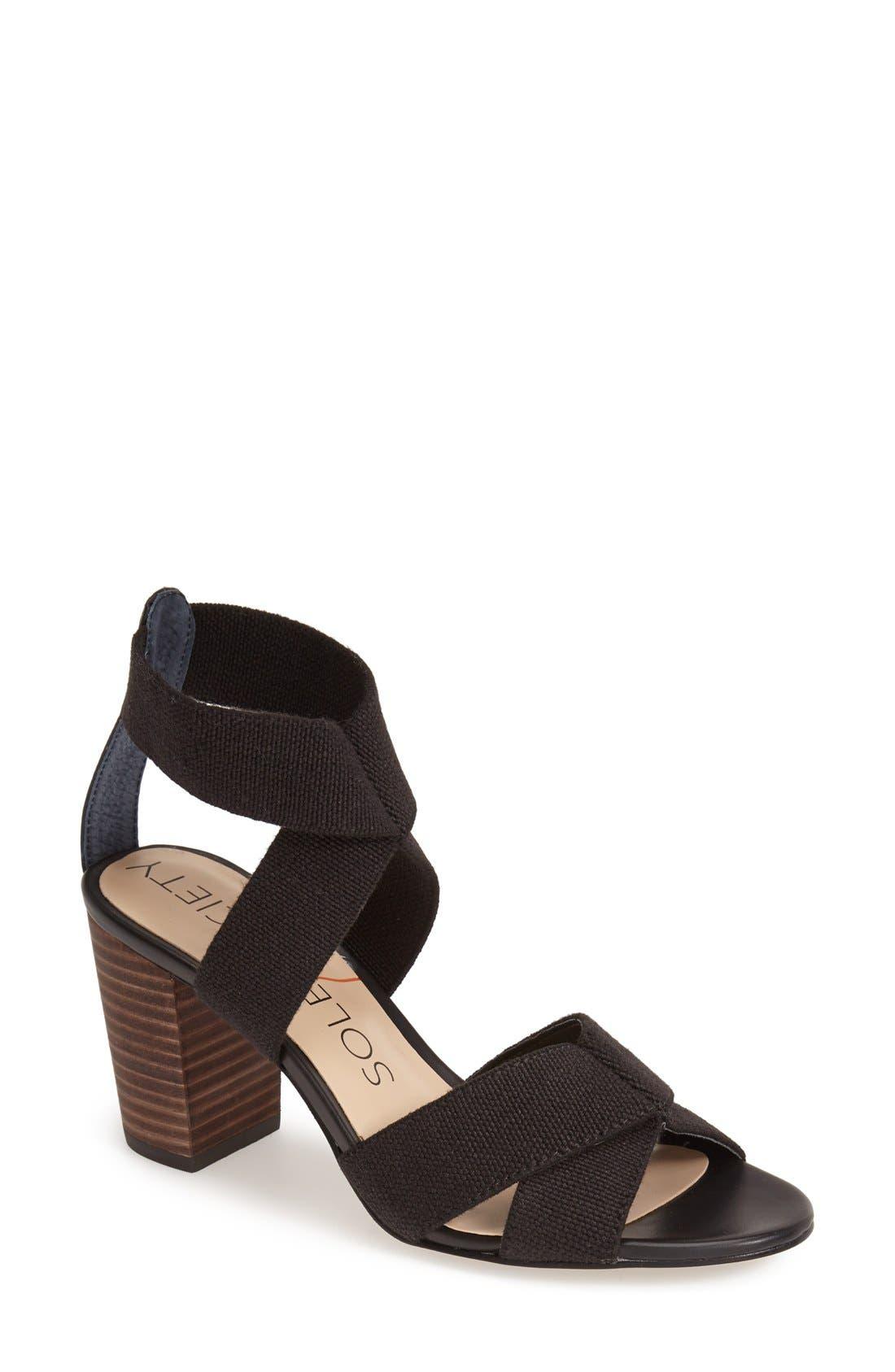 'Joesy' Block Heel Sandal, Main, color, 001
