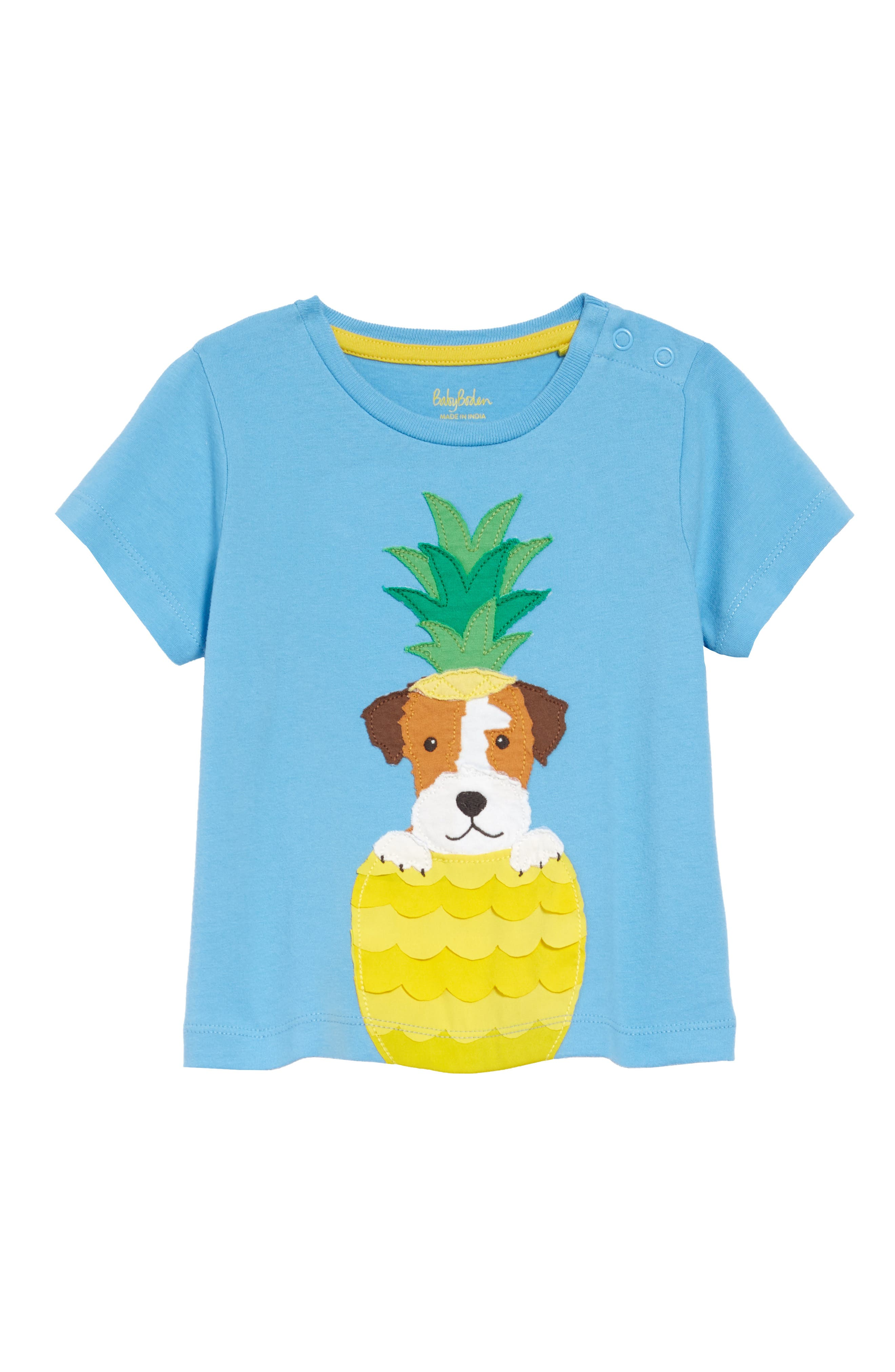 Animal appliques make sunny days even more fun in this comfy cotton T-shirt. Style Name: Boden Applique T-Shirt (Baby). Style Number: 6063544. Available in stores.